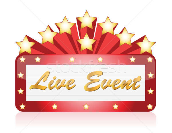 Live event red Star Neon theater / Movie Sign Stock photo © alexmillos