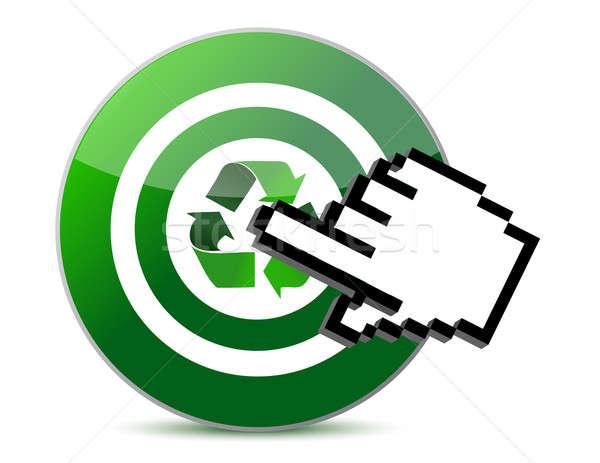 Célzás újrahasznosít zöld gyűrű cél grafikus Stock fotó © alexmillos
