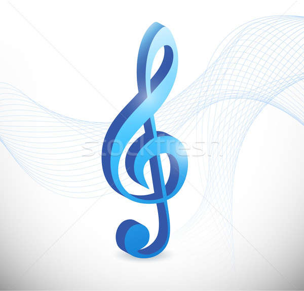 musical symbol illustration design over a white background Stock photo © alexmillos