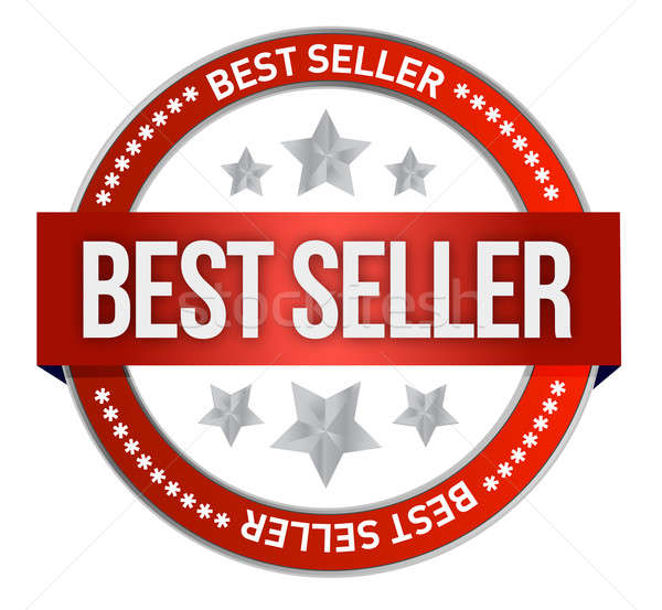 Bestseller label seal  Stock photo © alexmillos