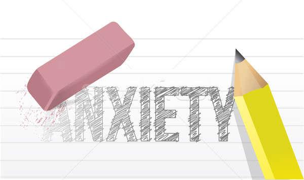Deleting anxiety concept illustration design  Stock photo © alexmillos