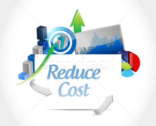 Reduce cost business concept illustration  Stock photo © alexmillos