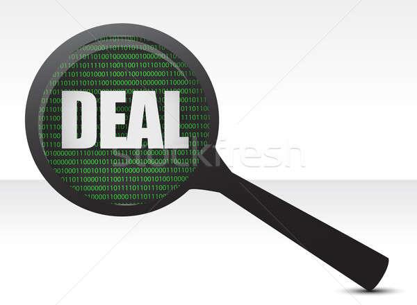 Deal under review concept illustration design over a white backg Stock photo © alexmillos