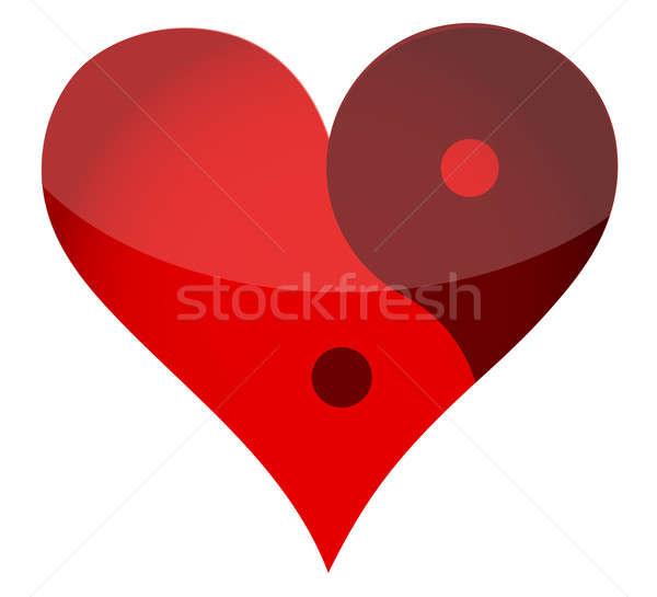 Yin yan heart  Stock photo © alexmillos