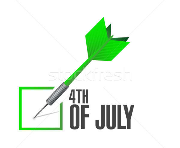 4th of July check dart sign concept illustration Stock photo © alexmillos