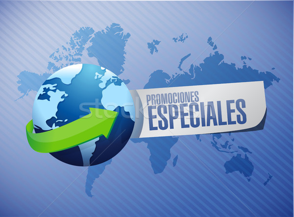 special promotions in Spanish global sign concept Stock photo © alexmillos