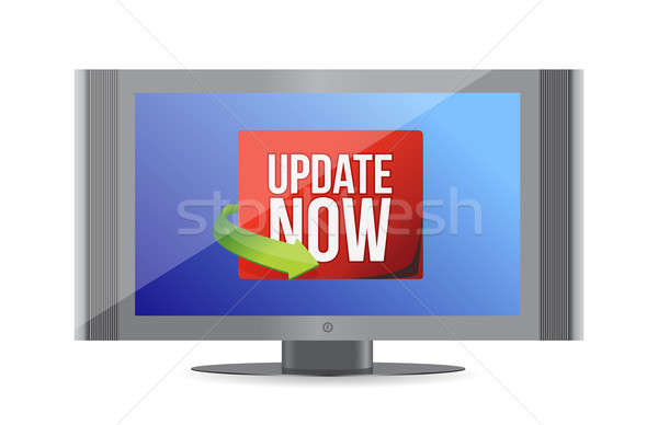 Update now label on screen Stock photo © alexmillos