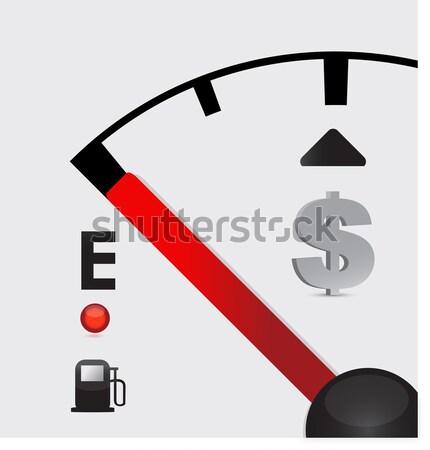 detailed gas tank, half full or half empty Stock photo © alexmillos