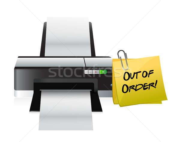 printer out of order post Stock photo © alexmillos