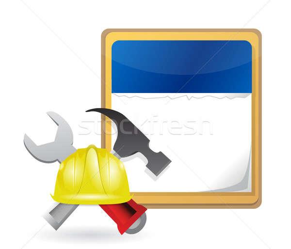 construction starts. calendar concept Stock photo © alexmillos