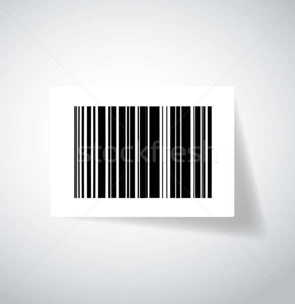 ups barcode sticker illustration design Stock photo © alexmillos