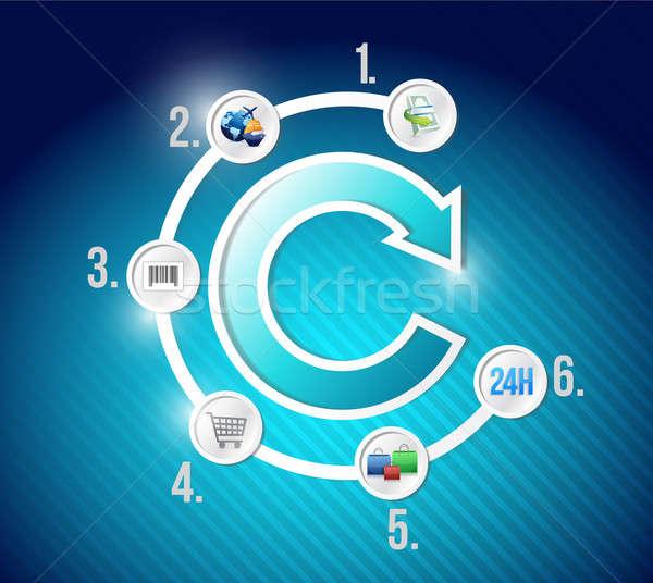 ecommerce infographic isometric graph Stock photo © alexmillos