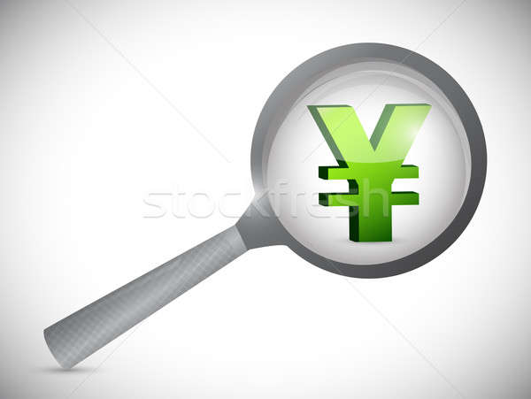 yen currency symbol under review Stock photo © alexmillos