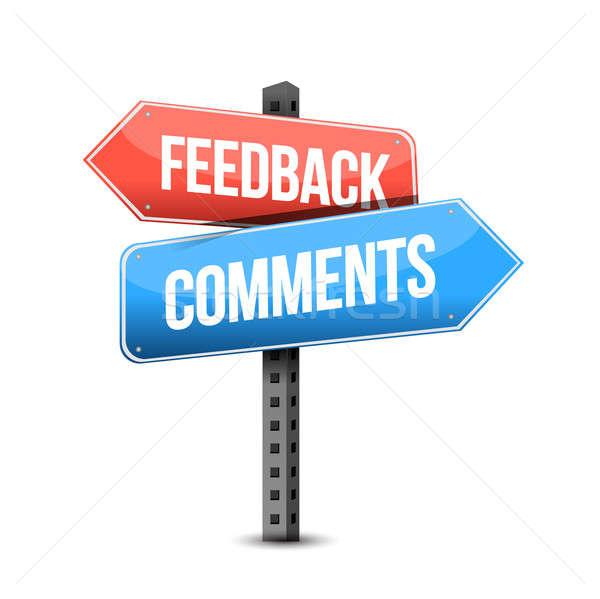 Feedback comentarios senalización de la carretera ilustración blanco negocios Foto stock © alexmillos