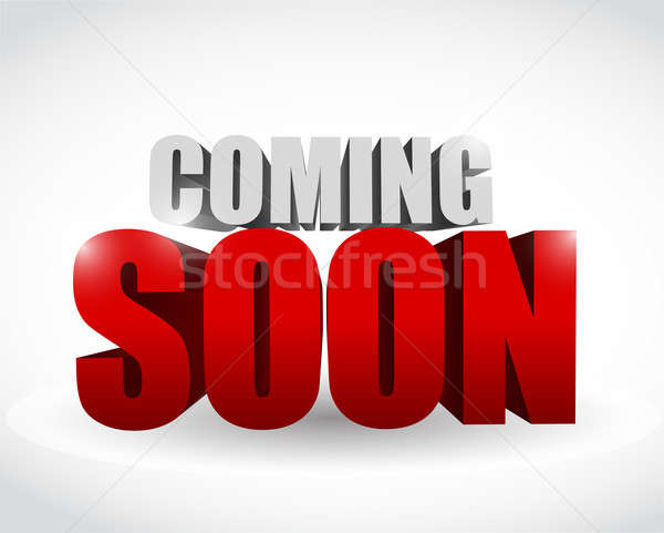 coming soon 3d text illustration design Stock photo © alexmillos