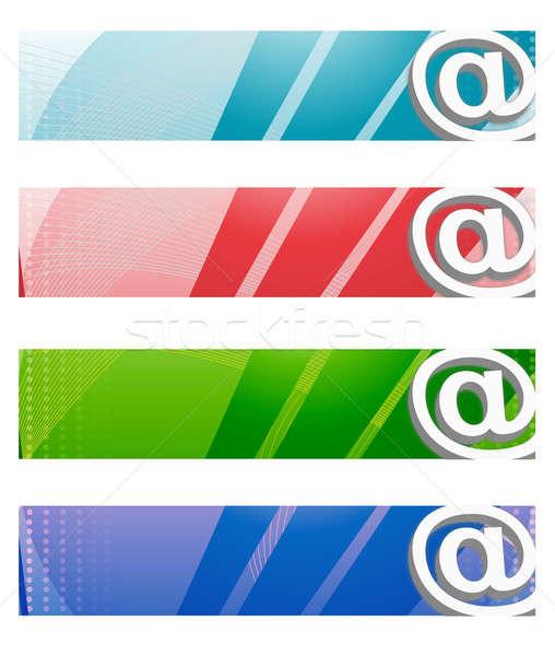 Internet digitale quattro diverso colori Foto d'archivio © alexmillos