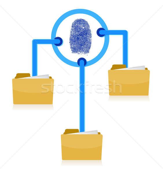 Związku bezpieczeństwa palców schemat ilustracja Zdjęcia stock © alexmillos