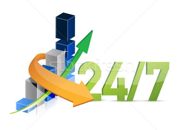 business 24 7 service moving concept illustration design Stock photo © alexmillos