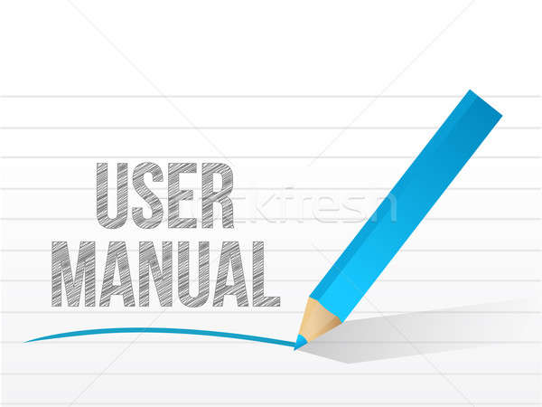 user manual written on a notepad paper illustration design Stock photo © alexmillos