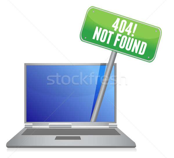 ノートパソコン 404 エラー メッセージ 実例 デザイン ストックフォト © alexmillos