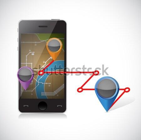 Iş grafik ekran örnek dizayn beyaz iletişim Stok fotoğraf © alexmillos