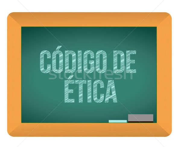 Código ética pizarra espanol textura color Foto stock © alexmillos
