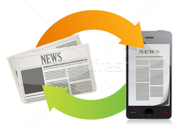 News media concepts  Stock photo © alexmillos
