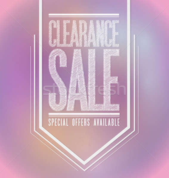 Pink lights clearance sale poster sign banner  Stock photo © alexmillos