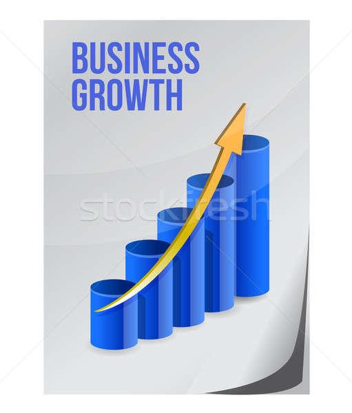 üzlet növekedés terv illusztráció darab papír Stock fotó © alexmillos