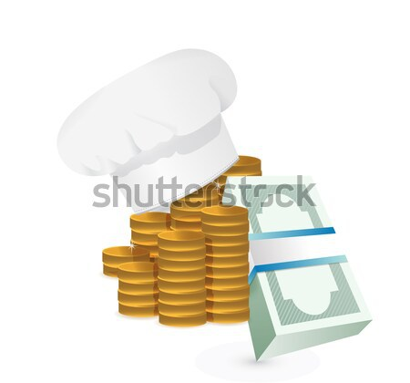 Chefs hat and cook book profits  Stock photo © alexmillos