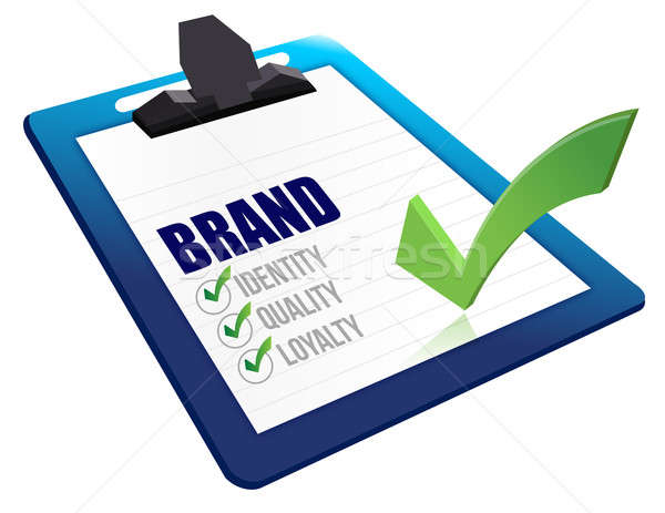 Identity, Quality and Loyalty checklist clipboard Stock photo © alexmillos