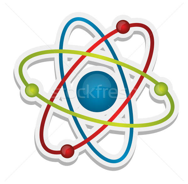 Abstract science icon of atom  Stock photo © alexmillos