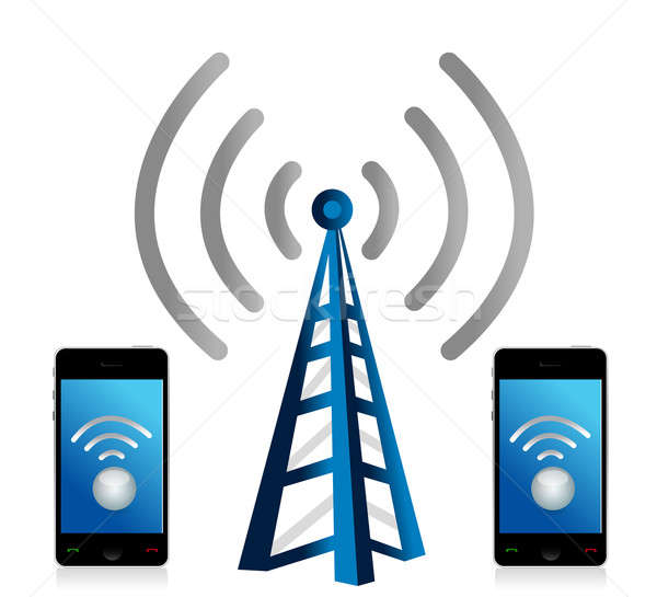 Wifi connection phones Stock photo © alexmillos