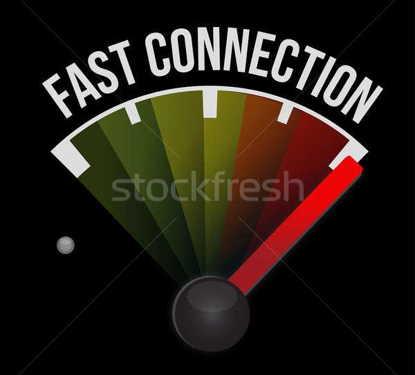 Photo stock: Rapide · connexion · indicateur · de · vitesse · voiture · vitesse · noir