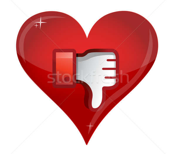 Love Dislike Icon. Thumb down Sign  Stock photo © alexmillos