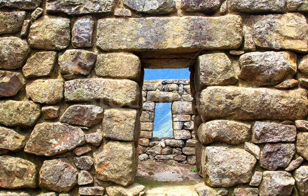 Machu Pichu ancient ruins. Detail. Stock photo © alexmillos