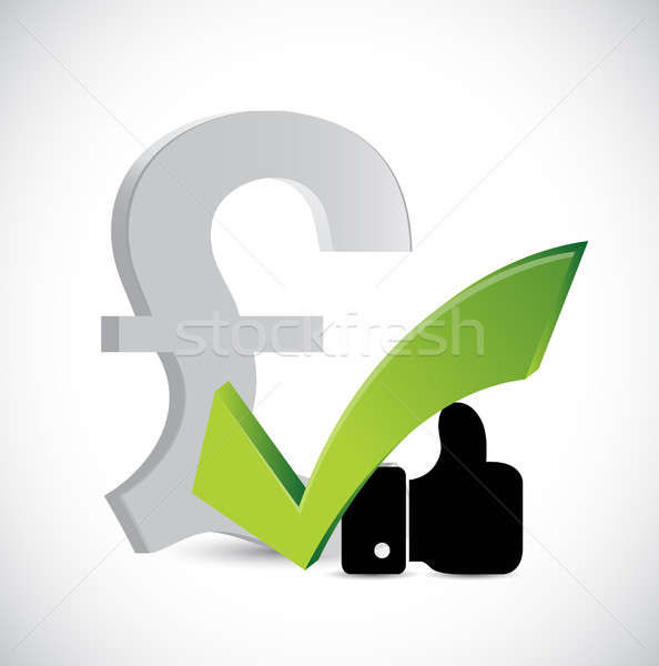 pound currency like and approval sign concept Stock photo © alexmillos