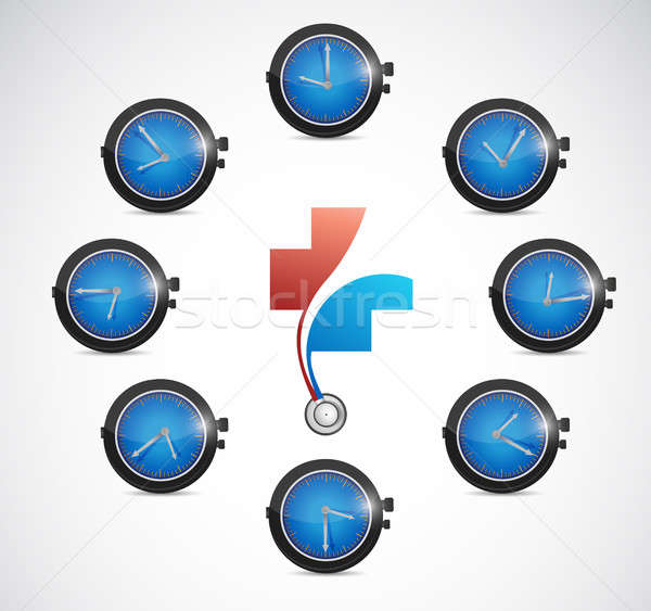 health care time concept illustration Stock photo © alexmillos