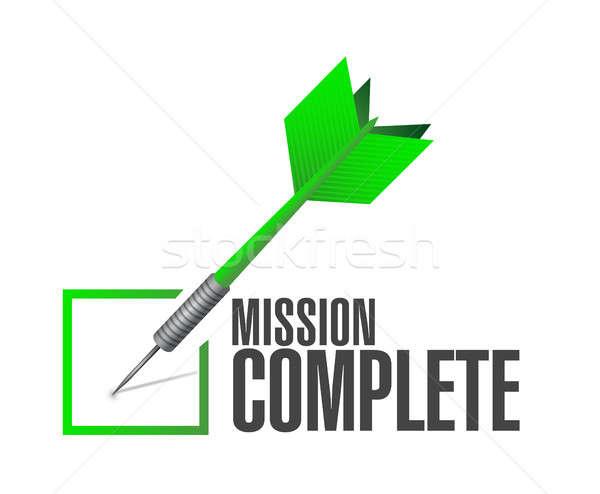 mission complete check dart sign concept Stock photo © alexmillos