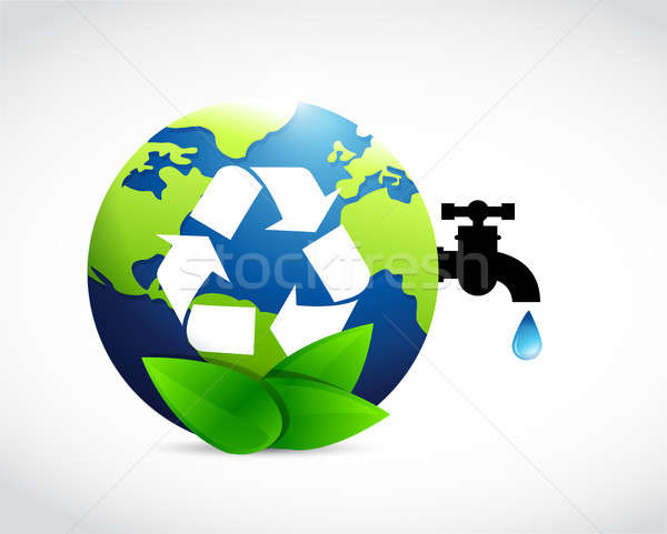 reduce reuse and recycle globe water concept Stock photo © alexmillos