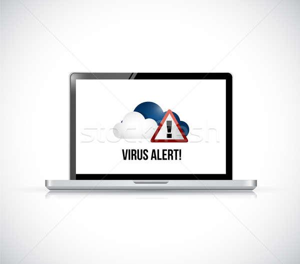 Cloud Computing virus alert computer concept Stock photo © alexmillos