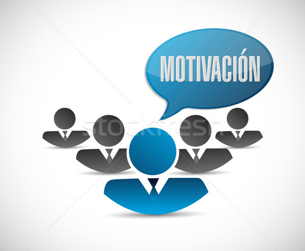 Motivation team sign in Spanish concept Stock photo © alexmillos