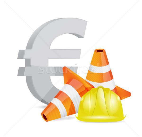 euro crisis concept illustration design Stock photo © alexmillos