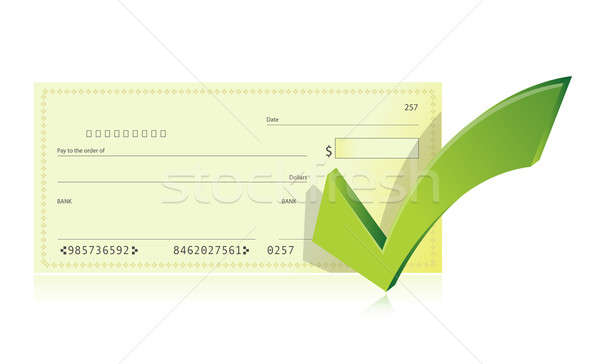 bank checkbook and check mark illustration Stock photo © alexmillos