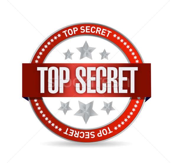 top secret seal stamp illustration design Stock photo © alexmillos