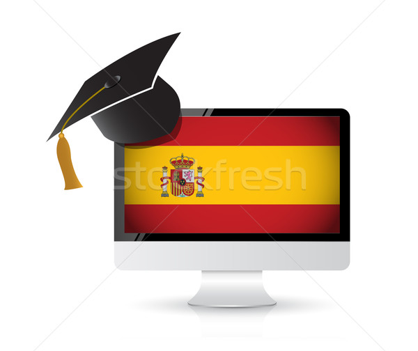 技術 学ぶ スペイン語 言語 実例 デザイン ストックフォト © alexmillos