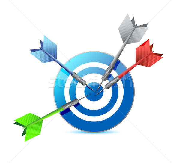 everyone hits the target. target and goal. Stock photo © alexmillos