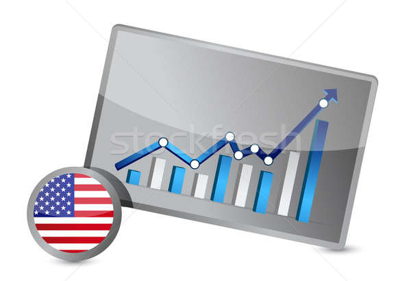 US profits graph illustration design Stock photo © alexmillos