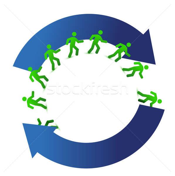 socialmedia networking movement cycle illustration design on whi Stock photo © alexmillos