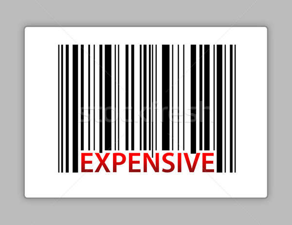 expensive barcode illustration design on a label Stock photo © alexmillos